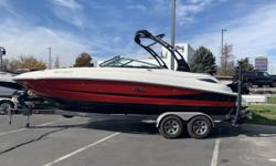 ONLY 21 HOURS!!! This 240 Sundeck is practically new! Don't miss your chance on this amazing boat. Call the Utah store 801-225-9133 or Text Adam's Cell 385-333-1734 with any questions!This 240 Sundeck includes: - Tandem Axle Trailer & Spare - Bow &