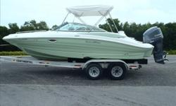 Powered by a 250hp Yamaha Four Stroke with ONLY 30 Hours on it AND Factory Warranty Through 3/31/2020! SAVE 10'S OF THOUSANDS ON THIS LIGHTLY USED SOUTH WIND! Boat Pkg. Comes Equipped with: Full Custom Boat Cover, Garmin 546 GPS/Sounder Combo, Sony Stereo