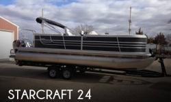 Actual Location: Lemoyne, NE - Stock #084566 - Like New! Seats Up TO 14 People! Ready For Fun!Like new 2014 Starcraft SLS 3 Tritoon with 150HP. The Stardeck SLS3 pontoon by Starcraft offers plenty of details to impress with a standard third tube with HMX