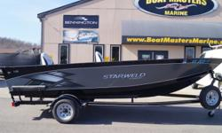 2014 Starweld 1682 TL The Starweld 1682 TL welded tiller fishing boat has all the basics for a great day of fishing, including a 25-gallon aerated livewell, rod storage and premium wood-free fishing seats. Dash Features ? Tachometer ? Speedometer ? Volt