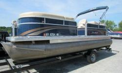 Located Saratoga Springs New York Local use on Saratoga Lake Fresh Water. Customer traded for tripple toon . has a Yamaha 115HP and Tenn Trailer .Changing Room and lot's of Seating . Will not last long . Call 518-587-3397 for your best Price . Engine(s):