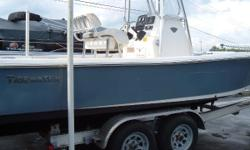 2014 Tidewater 2200 Carolina Bay Center Console Yamaha 150 hp 4st 2013 Road King Tandem axle trailer $29950 Leaning post with backrest, Power Pole 8', Lowrance Elite 7, T-top, Minnkota 80lb trolling motor Nominal Length: 22' Length Overall: 22' Beam: 8