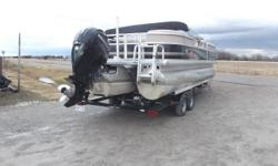 2014 Suntracker PB24 XP3 tri-toon that is in great condition. This is the very BEST of the Suntracker Series from Tracker Marine, powered by a Mercury 150 HP 4-stroke motor. We just serviced this motor, and it is in great condition, we will post hours on