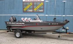 2014 Tracker® Boats Guide Pro Guide V-16 SC Mercury 60 HP 4 Stroke EFI*Minn Kota Power Drive 12 volt, 42 lb. thrust trolling motor*Minn Kota MK200 2 bank / 10 amp battery charger*Bow 23 gallon, divided, aerated and