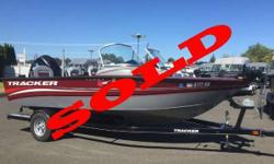 SOLD The boat we have in stock is powered by a Mercury 150hp Verado motor. The boat also includes a Mercury 9.9 Kicker with controls at the helm. The options on the boat include a Minn Kota bow mount, Cannon manual downriggers, Lowrance fish finder at