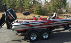 VERY NICE USED 2014 TRITON 20XS THIS IS A ONE OWNER, NICE USED TRITON 20XS. THIS BOAT COMES WITH THE 250 PRO XS MERCURY ENGINE. IT ALSO COMES WITH THE FOLLOWING FEATURES: MINN KOTA FORTREX 112 TROLLING MOTOR, 4 BANK CHARGER, 2 8' POWER POLES,ADJUSTABLE