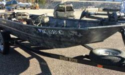 USED 2014 WAR EAGLE 542 FLD THIS IS A USED 2014 WAR EAGLE 542 FLD AND TRAILER WITH A 2003 MERCURY 15HP ENGINE. THIS BOAT IS IN EXCELLET CONDITION. THE BOAT INCLUDES 4 SEATS, 12VOLT TROLLING MOTOR, 2 LOWRANCE DEPTHFINDERS, NAVIGATION LIGHTS, AND 2