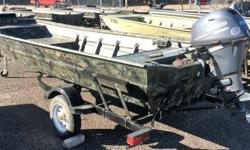 USED 2014 WAR EAGLE BOAT THIS IS A NICE USED 542 WAR EAGLE WITH TRAILER, AND 2014 YAMAHA 20HP 4-STROKE ENGINE. THE ENGINE HAS WARRANTY THROUGH 2/13/2019. INCLUDES TREAD PLATE FLOOR, LED BOW LIGHT, 12 VOLT PLUG, SST PROP, TANK, AND BATTERY. CALL OR EMAIL