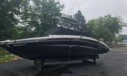 Come see this fresh trade. this Jet boat has everything you need to get out and have a fun day on the water. Twin motors give you all the power you need to pull skiers, wake boarders, and tubers. call or text to schedule a showing today! Trades
