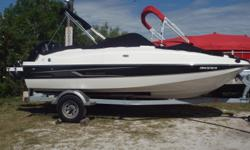 """2015 Bayliner 190, Own this """"Like New"""" Bowrider with factory warranty as little as 239.40 a month with 10% down.** With 150 HP Mercury 4 Stroke Outboard motor, Battery switch, jensen AM/FM I-Pod ready Stereo, ski pole, Bimini, cockpit / bow covers,"""