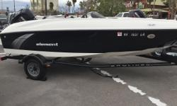 2015 Bayliner Element with Mercury 60 HP 4-stroke and trailer! Nominal Length: 18' Engine(s): Fuel Type: Other Engine Type: Outboard Stock number: 887976