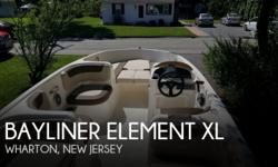 Actual Location: Wharton, NJ - Stock #110773 - If you are in the market for a deck, look no further than this 2015 Bayliner Element XL, just reduced to $26,000 (offers encouraged).This boat is located in Wharton, New Jersey and is in great condition. She
