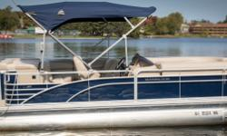 Offered for sale is a Pre-Loved 2015 Bennington 2075 GL by Rivett's Marine Recreation & Service, Inc. In Old Forge, NY. Exterior Color - Regatta Blue with N/A accent Canvas - Regatta Blue Interior Upholstery Color - Java with Monochrome accent