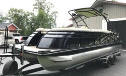2015 Bennington Pontoons 2575 QCW Sport Tower-IO This is a beautiful 2015 Bennington Pontoons 2575 QCW boat that barely has any hours on it! Comes equipped with all the Bells-and-Whistles as well! She is a rare color too Equipped with a 350 SCI Mercury