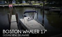 Actual Location: Ocean View, DE - Stock #109974 - If you are in the market for a fishing, look no further than this 2015 Boston Whaler 170 Dauntless, just reduced to $33,500 (offers encouraged).This boat is located in Ocean View, Delaware and is in great