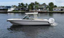 New to the market and priced to sell! This 27' Vantage has been very well cared for since new. The dual console layout offers ample amount of room and seating for family and friends. The bow seating area is very accommodating when it comes to cruising or