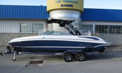 2015 Bryant Boats 246 ? ONE OWNER ? MerCruiser 350 MAG MPI- 300HP ? Bravo III Outdrive ? Polished Stainless Props ? Foldable Wakeboard Tower ? Spinner Racks ? Bimini Top ? Depth Sounder ? Full Mooring Cover ? Stainless Docking LIghts ? Bow Boarding
