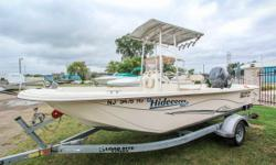 Boat is VERY clean and ready for showings - this one won't last long. Includes Standard Horizon VHF radio, Garmin Echo Map 94SV, full gauges, anchor, livewell and baitwell, power trim/tilt, trailer and a 115 HP Yamaha 4-Stroke motor. Call, email or stop