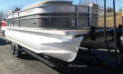Crest II brings this series to the forefront of pontoon design. This luxury pontoon features a state-of-the-art surround sound system and comfortable wrap-around seating, powered by a Suzuki 115 outboard. Nominal Length: 23.5' Length Overall: 23.5'