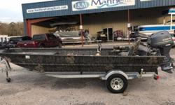 ONE ONLY SPECIAL 2015 Lowe Boats Hunting Roughneck 1860 DLX Camo !!!!Financing Available!!!! !!!Come by and check out this Great Deal on a Hunting Rig!!! The Pick of Serious Fishermen, Tournament Pros & Fishing Guides For the true-blue outdoorsman, a Lowe