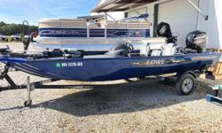 28 hours!!! One Owner! Spacious, comfortable and well equipped, the Lowe ST195 is a multi-species fishing champ that exceeds all expectations. Designed for maximum angling space and huge capability, this is the mod-V fishing machine youll rely on for