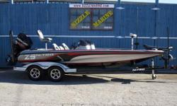 Mercury 250 HP Optimax Pro XS ** 2-power poles/ 8 ft blade edition ** Manual jackplate ** Motorguide 36 volt trolling motor ** Bow flush mount lowrance elite 7 hds fish finder ** Helm flush mount lowrance elite 7 hds fishfinder ** Hydraulic steering with