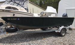 The end of the week is here and it?s time to run to your favorite fishing spot. This PolarKraft Side Console will get you there in a hurry with stability! Beam: 7 ft. 8 in. Displacement: 2065 Fuel tank capacity: 23 Hull color: Forest Green Optional