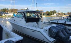 2015 Pursuit OS385 Offshore powered with Triple Yamaha F350 V8's.  (Yamaha warranty expires 10/14/21)  Boat is immaculate with custom upgrades.  Motors have just 280 hours.  Always Pursuit/Yamaha dealer maintained.  White