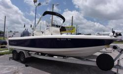 2015 Robalo 226 Cyman with a F150 Yamaha engine and tandem aluminum trailer. Price includes leaning post, bimini top, 2 bank charger, trim tabs, MinnKota 80lbs iPilot, Battery switch, Garmin GPS, Head, Stereo, Yamaha gauges, Hydraulic Steering, 3