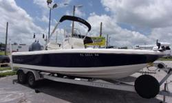 "The 226 Cayman has a big boat feel and is perfectly suited for a wide variety of conditions. Go ahead and fish the flats or venture outside the harbor offshore. Sporting a 22'6"" centerline with a trailerable 8'6"" beam, the 226 Cayman gets it done with"