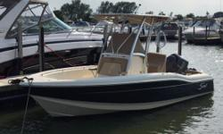 Run about the Lake on this 21-foot center console! Scout's 210 XSF is built for excellent fishability and comfort. Ample seating and lounging is available for entertaining and creating memories.  Certified Trade w/ Warranty Remaining Yamaha Warranty