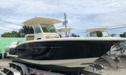 Fresh trade! Low hours and as clean as they come. Loaded with options and ready to go with extended warranties on twin Yamaha F150's. More pictures to come.. Notable options include: - Single owner boat, was bought as a leftover new in May 2016 -