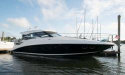 In addition to her curb appeal, this Sea Ray 470 is a very capable of making long cruises comfortably.  The large opening sunroof makes for a salon that feels open and spacious.  Here are a few highlights: Low Hours Raymarine Electronics