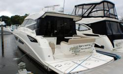 CERTIFIED USED BOAT - LOW HOURS - JOYSTICK DOCKING - ALL TYPES OF TRADES CONSIDERED Engine(s): Fuel Type: Diesel Engine Type: Inboard Quantity: 2 Beam: 14 ft. 0 in.