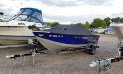 2015 Starcraft 176 Starfish with 115hp Yamaha four stroke and trailer. Manufacturer options include full travel cover, Minnkota 70PD 24v trolling motor, Hummingbird X718 combo, bimini top with visor and bow cushions. ***NOTE*** This boat has a couple of