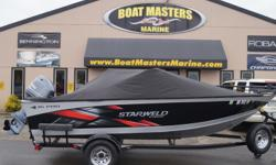2015 Starweld 1600 Pro DC PACKAGED WITH A 70 HP, 4-STROKE ENGINE, CUSTOM TRAILER INCLUDED! Starweld's 1600 Pro DC welded fishing boat has a great layout and plenty of great features. This amazing value features large full-vinyl bow and casting platforms,