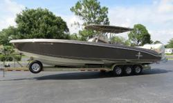 Price reduction !!! Seller wanst her sold !!!  One owner indoor stored custom Statement 380 loaded with options and low hours.Custom painted with matching custom interior and Sea Dek flooring. Triple Mercury 300 Verado's w/Warranty Until 12/2019
