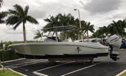 This Lightly used 380 SUV Statement is powered by Triple Mercury Verado 300s with only 171 hours. The Helm features the Sport Dash Console Layout with Twin Garmin GPS with Integrated engine information, Mercury Trim control, Livorsi Digital Controls and