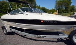 2015 Stingray Boats 180RX, Super clean Stingray 18' open bow rider. Powered by a 3.0L Mercruiser Alpha One stern drive with 135hp and multi port fuel injection. ONLY 61 hours. Single axle bunk trailer with spare tire and wheel jack. Bimini top, bow cover