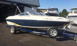 Just reduced $1,000. This boat is equipped with a custom trailer, swing tongue, side guides, spare tire, bimini top, snap out carpet, cd player, bow cover, cockpit cover, depth finder and more! 104 hours on engine.  Nominal Length: 19.8' Length