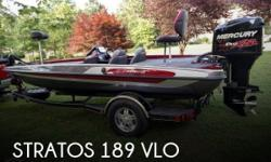Actual Location: Dallas, GA - Stock #081273 - If you are in the market for a bass, look no further than this 2015 Stratos 189 VLO, priced right at $36,200 (offers encouraged).This boat is located in Dallas, Georgia and is in great condition. She is also