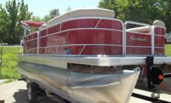 2015 Sweetwater 2086 Like new pontoon with a 60hp Mercury engine. Also includes depth finder, bimini top with boot and snap on cover. Price includes trailer; registration and applicable tax additional. Engine(s): Fuel Type: Gas Engine Type: Other Beam: 8