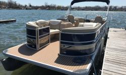 2015 Sylvan 8524 LZ RPT. Big pontoon with 115hp engine and revolutionary planning tubes (CRPT) makes this boat great for water sports. LE package adds Sylvan's upgraded seating and interior. Get on the water today! Trades considered. Engine(s): Fuel Type: