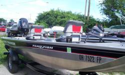 2015 Tracker PAN FISH 16, STK# 2 POWERED BY MERCURY 40, LOWRANCE ELITE 3X (BOW), MINNKOTA EDGE 45 LBS, COVER. Nominal Length: 16' Stock number: 2