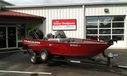 THE GREAT OUTDOORS MARINE - THE FUN STARTS HERE! 2015 TRACKER PRO GUIDE V-16SC - COLOR: RED 2015 MERCURY 90HP 4-STROKE 2015 TRAILSTAR SINGLE AXLE TRAILER MinnKota PowerDrive 42# 12V trolling motor on bow Lowrance Elite 4X depth/fish finder at console