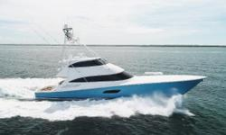 $1MM USD PRICE REDUCTION - OWNER WANTS SOLD BEFORE THE END OF THE YEAR This 2015 92 Viking Enclosed Bridge has only 1200 original hours (as of June 2018) on upgraded MTU 16V2000 M98L engines with extended warranties out until 2020 or 2,000hrs (which ever