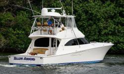 This 2015 Viking 55' offers several of the desired Viking upgrades such as High Gloss Interior Wood, Factory Installed Seakeeper #9, Two Generators, Teak Cockpit and Mezzanine, Ice Chipper, Watermaker, and Loaded Electronics package including FLIR.