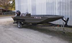 2015 Welbilt V front boat with aluminum floor, side console and large front deck with storage. Its on a 2014 Mid-America trailer and power by a 1996 60hp Mercury with a ss prop. Its very nice well maintained outfit. Beam: 6 ft. 5 in.