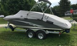 BLOWOUT PRICE OF $45995 AND IF YOU DONT HAVE A TRADE YOU CAN SAVE EVEN MORE!!!!!!!!!!!!!!!!!!!!!! retail is $50,300.00 2015 YAMAHA 212 SS 2015 YAMAHA TWIN ENGINES 2015 TANDEM AXLE TRAILER OPTIONS: BIMINI TOP BOAT COVER STEREO DOCKING LIGHTS SWIM