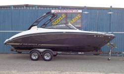 2015 Yamaha 242 Limited S*Twin 180 HP HO jet drives (360 HP)*Articulating Keel steering*Polk audio with 6 speakers*AM/FM/USB/MP3*Transom shower*Stereo remote control*Bow filler